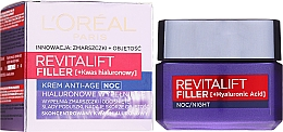 Profumi e cosmetici Crema anti-età da notte - L'Oreal Paris Revitalift Filler Hyaluronic Acid Night Cream