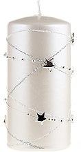Profumi e cosmetici Candela decorativa, bianca, 18x7 cm - Artman Christmas Garland