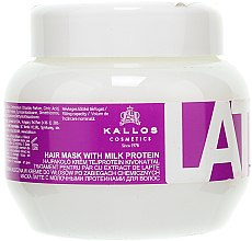 Profumi e cosmetici Maschera per capelli danneggiati - Kallos Cosmetics Latte With Milk Protein Mask