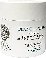 Profumi e cosmetici Crema viso idratante, da notte - Natura Siberica Copenhagen Blanc de Noirs Radiance Night Face Cream