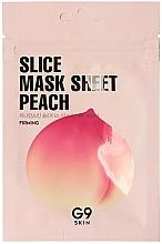 Profumi e cosmetici Maschera viso in tessuto - G9Skin Slice Mask Sheet Peach