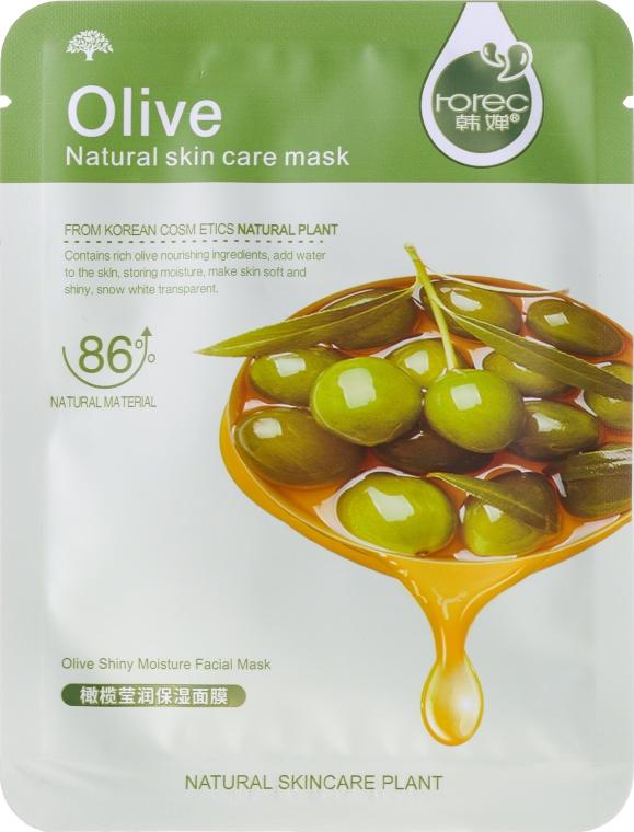 """Maschera in tessuto per viso """"Oliva"""" - Rorec Natural Skin Olive Mask — foto N1"""