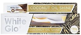 Profumi e cosmetici Set - White Glo Coconut Oil Shine (toothpaste/120ml + toothbrush)