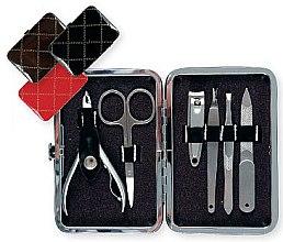 Profumi e cosmetici Set per manicure (79733), 6 pezzi, nero - Top Choice