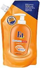 """Profumi e cosmetici Sapone liquido """"Pulito e fresco. Arancio"""" - Fa Hygiene & Freshness Orange Scent Soap (doypack)"""