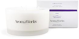 "Profumi e cosmetici Candela profumata ""Spiritualità"" con 3 stoppini - AromaWorks Soulful Candle 3-wick"