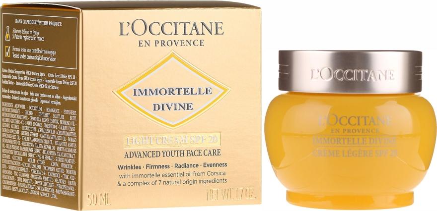Crema da giorno leggera - L'Occitane Immortelle Divine Cream SPF 20 Advanced Youth Care