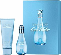 Profumi e cosmetici Davidoff Cool Water Woman - Set (edt/30ml + b/lot/75ml)