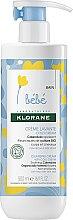 Profumi e cosmetici Crema detergente per bambini - Klorane Bebe Cleansing Cream with Cold Cream