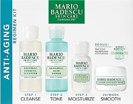 Profumi e cosmetici Set - Mario Badescu Anti-Aging Kit (cleanser/56ml+toner/56ml+cr/28ml+mask/14ml+eye/cr/3g)