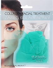Profumi e cosmetici Maschera al collagene con tè verde e vitamine - Beauty Face Collagen Hydrogel Mask