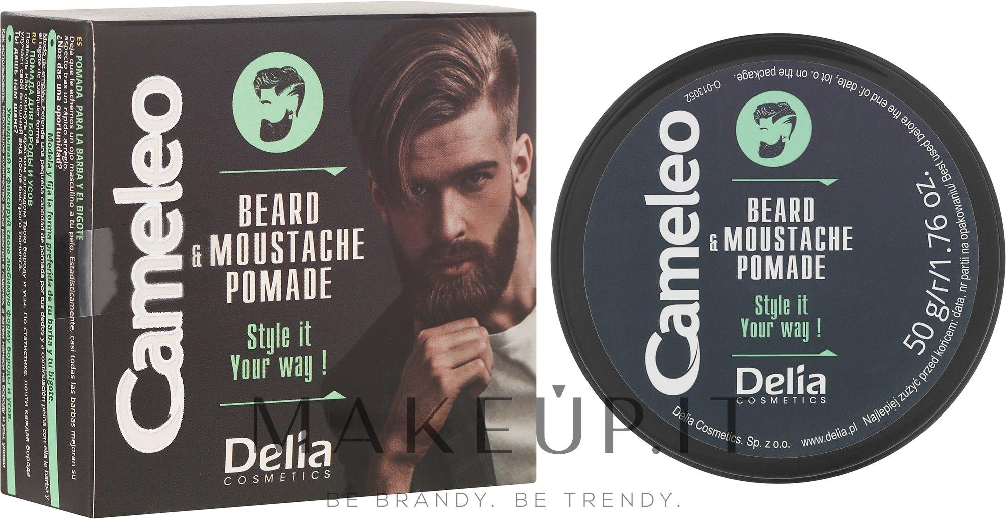 Cera barba - Delia Cameleo Men Beard and Moustache Pomade — foto 50 g