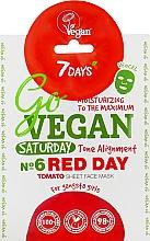 "Profumi e cosmetici Maschera in tessuto Nr. 6 ""Red Day"" - 7 Days Go Vegan Saturday Red Day"
