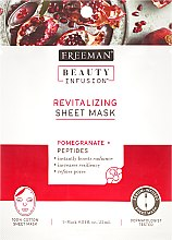 Profumi e cosmetici Maschera rivitalizzante - Freeman Beauty Infusion Revitalizing Peel-Off Mask Pomegranate + Peptides