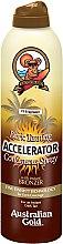 Profumi e cosmetici Spray acceleratore dell'abbronzatura - Australian Gold Dark Tanning Accelerator Continuous Spray With Instant Bronzer