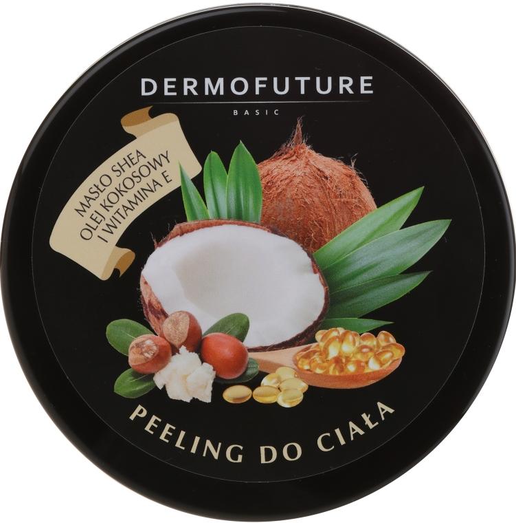 Scrub corpo allo zucchero con burro di karité e cocco - DermoFuture Sugar Body Scrub