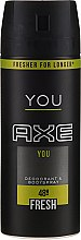 Profumi e cosmetici Deodorante spray - Axe You Fresh Deodorant Spray