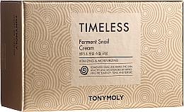 "Profumi e cosmetici Set ""Crema viso e crema contorno occhi alla bava di lumaca"" - Tony Moly Timeless Ferment Snail Cream And Timeless Ferment Snail Eye Anti-wrinkle & Whitening & Moisturizing"