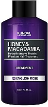 "Profumi e cosmetici Condizionante capelli ""Rosa inglese"" - Kundal Honey & Macadamia Treatment English Rose"