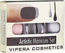 Profumi e cosmetici Set smalti - Vipera Artistic Manicure Set (nail/pol/3x5,5ml) (01 -Cute French)