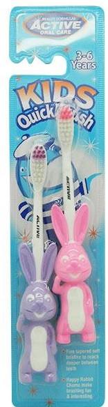 Spazzolino da denti per bambini, 3-6 anni, viola + rosa - Beauty Formulas Active Oral Care