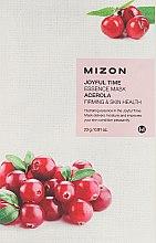 Profumi e cosmetici Maschera viso in tessuto con estratto di acerola - Mizon Joyful Time Essence Mask Acerola