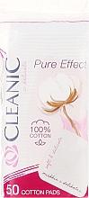 "Profumi e cosmetici Dischetti cosmetici di cotone ""Pure Effect"" , 50pz - Cleanic Face Care Cotton Pads"