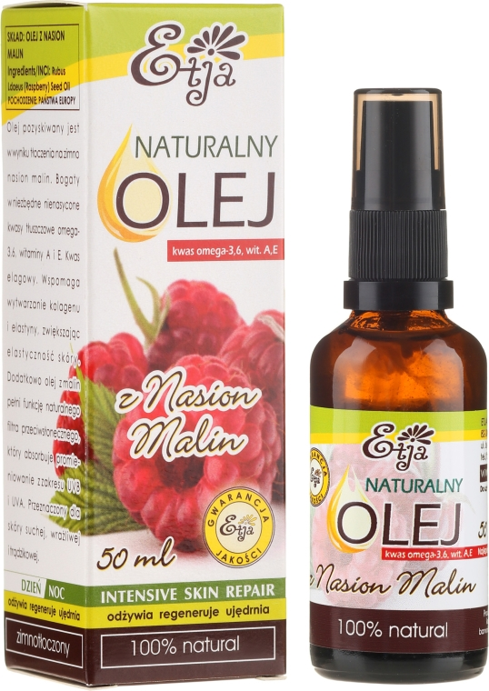 Olio naturale di semi di lampone - Etja Natural Raspberry Seed Oil