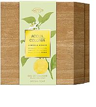Profumi e cosmetici Maurer & Wirtz 4711 Aqua Colognia Lemon & Ginger - Set (col 170ml + soap/100g)