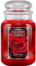 Profumi e cosmetici Candela profumata in barattolo - Country Candle Scarlet Rose