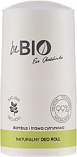 """Profumi e cosmetici Deodorante roll-on """"Citronella e bambù"""" - BeBio Natural Lemon Grass & Bamboo Deodorant Roll-On"""
