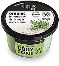 "Profumi e cosmetici Scrub corpo ""Lemongrass provenzale"" - Organic Shop Body Scrub Lemongrass and Sugar"
