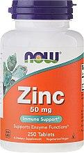 Profumi e cosmetici Minerali di zinco Gluconato 50 mg compresse - Now Foods Zink