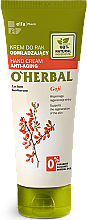 Profumi e cosmetici Crema mani rigenerante con estratto di bacche di goji - O'Herbal Rejuvenating Hand Cream With Goji Berry Extract