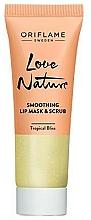 Profumi e cosmetici Maschera scrub per labbra - Oriflame Love Nature Smoothing Lip Mask & Scrub