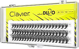 """Profumi e cosmetici Ciglia finte """"Doppio volume"""" MIX"""", 8mm, 10mm, 12 mm - Clavier DU2O Double Volume MIX"""