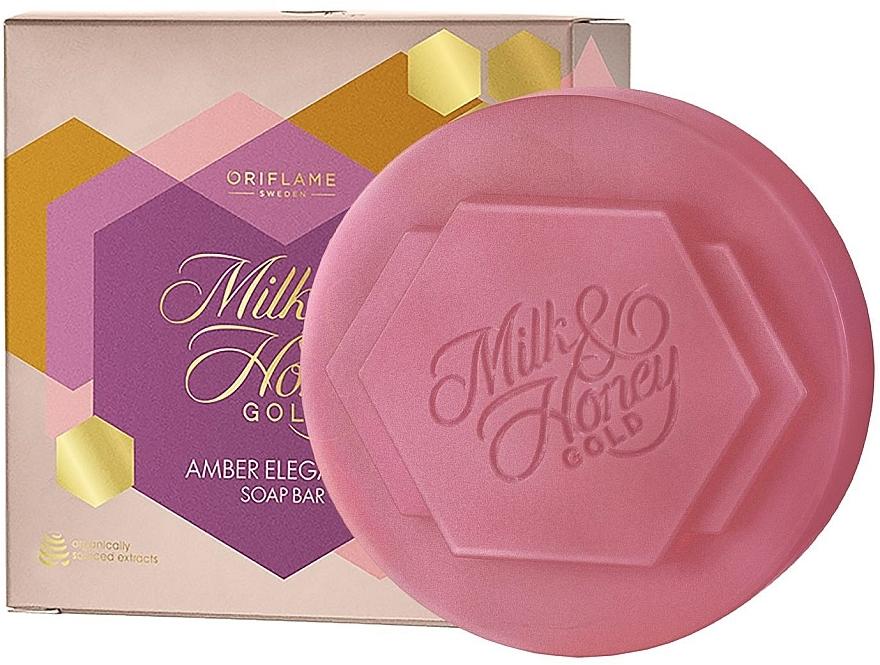 Sapone con lavanda e ambra - Oriflame Milk & Honey Gold Amber Elegance Soap Bar — foto N1