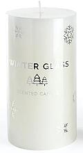 Profumi e cosmetici Candela profumata, bianca, 7x8cm - Artman Winter Glass