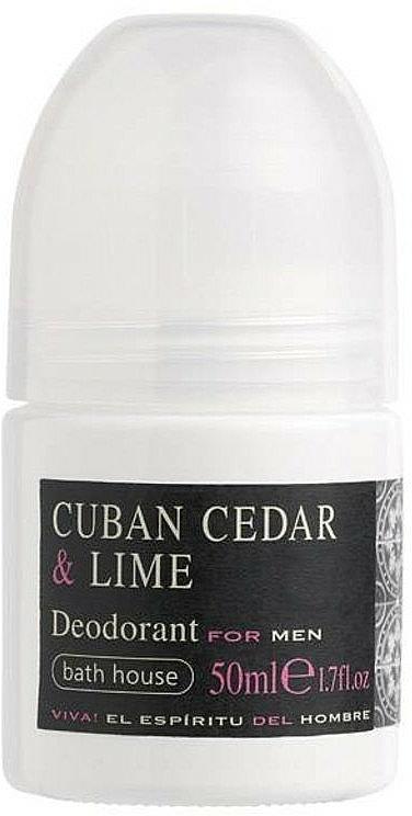 Bath House Cuban Cedar & Lime - Deodorante roll-on
