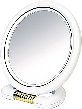 Profumi e cosmetici Specchio bilaterale, con supporto, bianco, 18,5 cm - Donegal Mirror