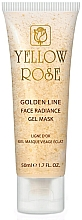 Profumi e cosmetici Maschera viso in gel con oro (con tubo) - Yellow Rose Golden Line Face Radiance Gel Mask