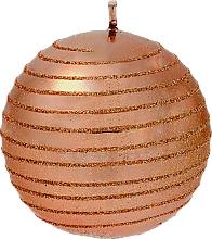 Profumi e cosmetici Candela decorativa, palla, rame, 8 cm - Artman Glamour