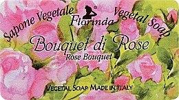 """Profumi e cosmetici Sapone naturale """"Bouquet di rose"""" - Florinda Sapone Vegetale Vegetal Soap Rose Bouquet"""