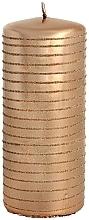Profumi e cosmetici Candela decorativa, cilindro, oro rosa - Andalo Metalic