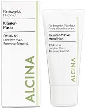 Profumi e cosmetici Maschera per la pelle grassa con estratti di erbe - Alcina Herbal Mask
