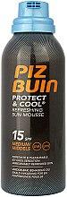 Profumi e cosmetici Mousse solare rinfrescante - Piz Buin Protect & Cool Refreshing Sun Mousse SPF15