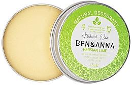 Profumi e cosmetici Deodorante cremoso naturale - Ben & Anna Persian Lime Soda Cream Deodorant
