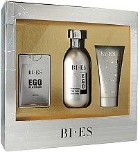 Profumi e cosmetici Bi-Es Ego Platinum - Set (edt/100ml + edp/15ml + sh/gel/50ml)