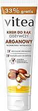 Profumi e cosmetici Crema mani nutriente con olio argan - Vitea Moisturizing Hand Cream Argan Oil