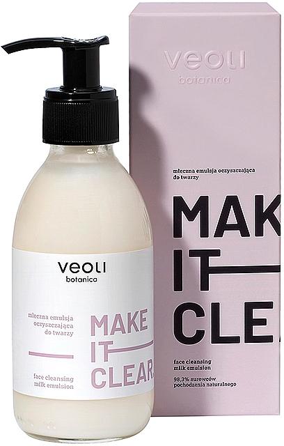 Latte-emulsione detergente viso - Veoli Botanica Face Cleansing Milk Emulsion Make It Clear